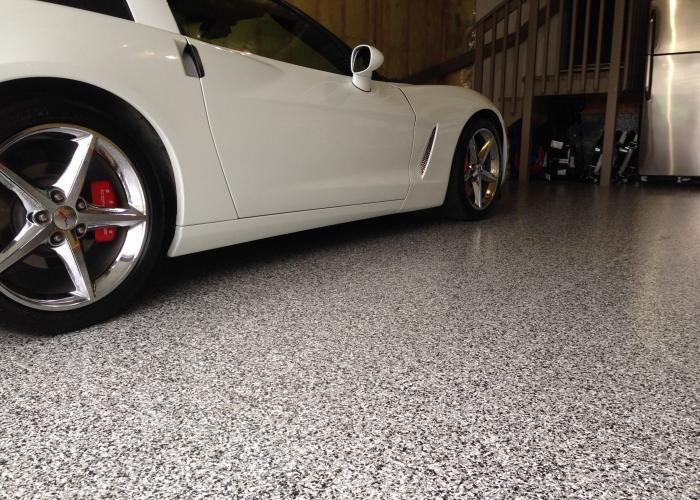 Polyaspartic Flake Garage Floor